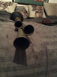 Antique Gesaco Triple Car Horn Made In Germany Beautiful Sound