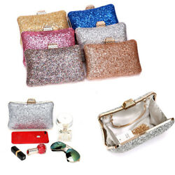 Women Evening Clutches Bags Prom Box Clutch Purses Bridal Purse Wedding Party $20.89