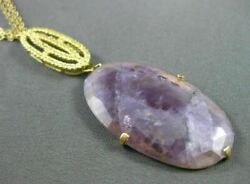 Estate Large .45ct Yellow Topaz And Amethyst 18kt Yellow Gold Lariat Necklace