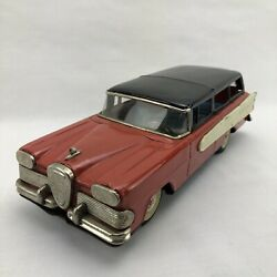 '58 Ford Edsel Round-up 2-door Station Wagon -rear Friction-tin-litho Car