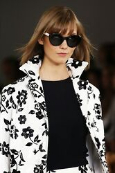 9000 Collection Floral Print 100 Lamb Leather Trench Coat 8