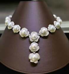 $95000 RARE IMPORTANT ESTATE 18KT LRG SOUTH SEA CULTURED PEARL DIAMOND NECKLACE!