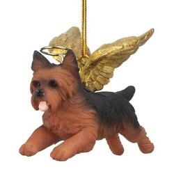 Design Toscano Honor the Pooch: Yorkie Holiday Dog Angel Ornament