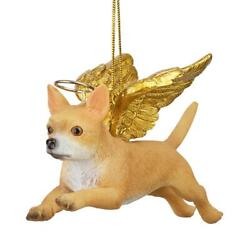 Design Toscano Honor the Pooch: Chihuahua Holiday Dog Angel Ornament