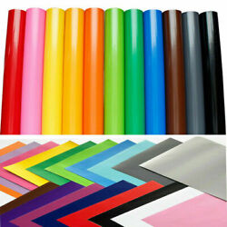 Permanent Self Adhesive Sign Vinyl Decal Stickers Cricut Cutter Sheets Roll