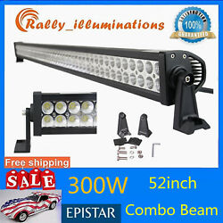 52inch 300w Led Work Light Bar Spot Flood Combo Driving Lamp Boat Ford Suv Ip67