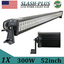 52inch 300w Led Work Light Bar Flood Spot Offroad Suv Tractor 4wd Boat Vs 42/50
