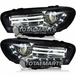 Headlights For 2009-2015 VW Scirocco Assembly Bi-Xenon Lens Double Beam HID HV78
