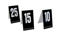 Plastic Table Numbers 2 Sets Of 1-100 Black W/white Tent Style Free Shipping
