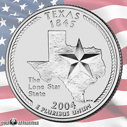 2004 P Texas U.s. State Quarter Uncirculated Single Coin
