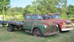 1951 Chevrolet Cab And Chassis With Flatbed Wrecker With A Frame Big Winch