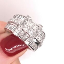 3.75ct Princess And Baguette Cut Diamond Right-hand Ring