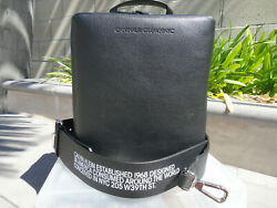 Calvin Klein 205w39nyc Cube Leather Bag W/black Removable Strap Nwt Msrp1400