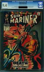 Sub-mariner 6 Cgc 9.4 - 2nd Appearance Of Tiger Shark - Classic Battle Cover