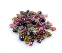 Natural Stone Multi Tourmaline Faceted Drilled Trillion Cut Gemstone 166.35 CT