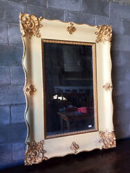 Antique and Elegant French Lacquered Mirror - Restored (in progress)