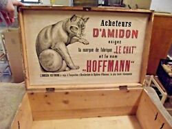 Old Chest Trunk Wood Deco Voyage Le Chat Hoffmann Rare Star Nineteenth Century,
