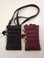 WOMEN#x27;S LADIES CROSS BODY BAGS LEATHER ZIPPER LONG STRAP $12.99