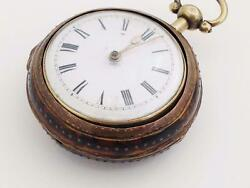 Verge Fusee Horn Pair Case Pocket Watch Dated 1854 No 197