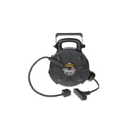 Extension Cord Reel ALL WEATHER DESIGN 50 FT 4 outlets 12 gauge wire