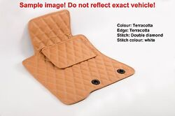 Leather Car Floor Mats Luxury Bespoke Fully Tailored Fit Porsche Cayenne 2003-09