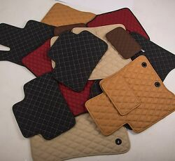 Leather Car Floor Mats Luxury Bespoke Fully Tailored Fit Mitsubishi Asx 2010-