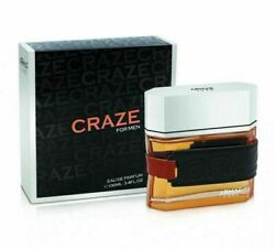 Armaf Craze for men 3.4oz  100ml Eau de Parfum Free Shipping NEW
