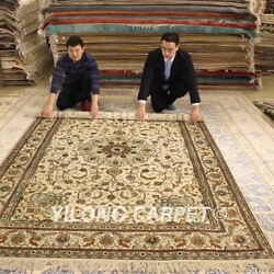 YILONG 6'x9' Great Handmade Silk Carpet Home Decor Hand Knotted Area Rugs 187AB