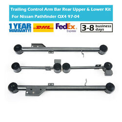 For Nissan Pathfinder Qx4 Set Of 4 Trailing Control Arm Rod Rear Upper And Lower