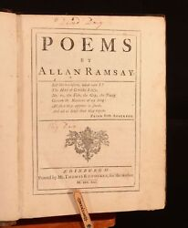 1721 1vol Of Poems By Allan Ramsay First Edition Full Calf Scarce