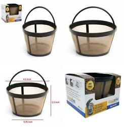Goldtone Reusable 8-12 Cup Basket Coffee Filter Fits Mr. Makers And...