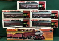 Lionel O Gauge Chicago And Alton 4-6-4 Steam Engine With 5 Passenger Cars