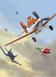 254x183cm Wall Mural Wallpaper Boys Bedroom Disney Decor Planes Above The Clouds