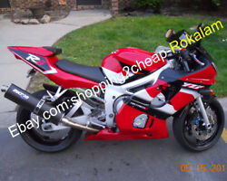 For Yamaha Yzfr6 1998-2002 Yzf600r Yzf R6 98-02 Red White Black Motorcycle Parts