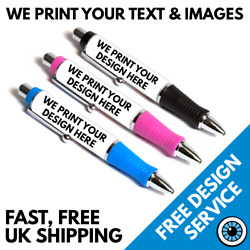 Custom Printed Pens Large Andbull Personalised Business Pen Logo Andbull Band Photo Image
