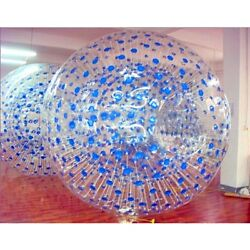 Vi 3m Outdoor Grass Inflatable Bubble Body Blue Dot Clear Playing Rolling Ball