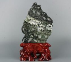 A Chinese Saussurite/dushan Jade Carving Of Spouted Seeds