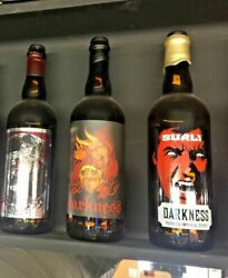 Surly Brewing Beer Bottle Can Collection Todd Omar First Darkness 2007 Two Empty