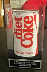 1983 Introducing Diet Coke Can Display In Lucite Minneapolis Vhtf