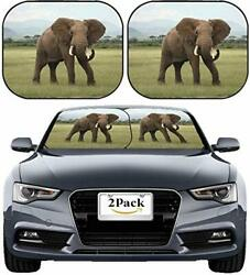 Auto Windshield Sunshade Large Portrait cat of Breed The Scottish lop Eared Clos
