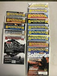 2000 2001 Backpacker magazine 14 issue lot $25.99