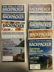 2007 Backpacker magazine complete year 9 issues $21.99