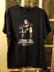 Clint Dempsey Spark The Movement Usa Soccer Pepsi T-shirt Size Xl Free Shipping