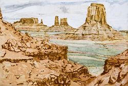Philip Pearlstein Monument Valley, 1981. Signed, Numbered, Fine Art Color Print