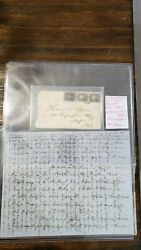 Usa 1861/1866 Rare Cover With Letter