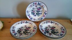 Antique Francis Morley Casket Japan Set Of 7 Soup Plates C1850
