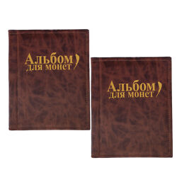 2x 250 Coins Album Book Holders For Coin Collection Penny Storage Case Brown