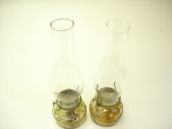2 Old Eagle Vintage Clear Glass Oil Lamp Good For Light Collectible Antique 9