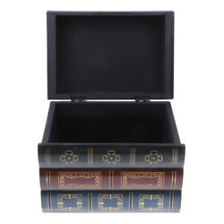 Antique Book Shaped Jewelry Display Box Home Storage Case Table Organizer L