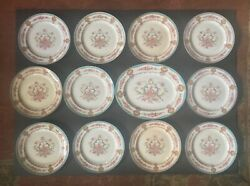 Cauldon 11 Lunch Plates And 1 Serving Tray, C. 1910